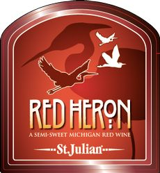 """Red Heron, St. Julian - """"The deep red color, fresh grape aroma & unforgettable flavor are at their best thanks to Michigan's cool climate. Big, rich & powerful cherry, grape jam & candied fruit aromas, w/  strawberry & lemon drop flavors & hints of guava. Crisp acidity nicely balances the semi-sweet, refreshingly tart finish. Enjoy chilled, on the rocks, or w/ a splash of soda."""" I fell in love w/ this before I turned 21, but drinking it ice cold on a hot day, really hits the spot."""