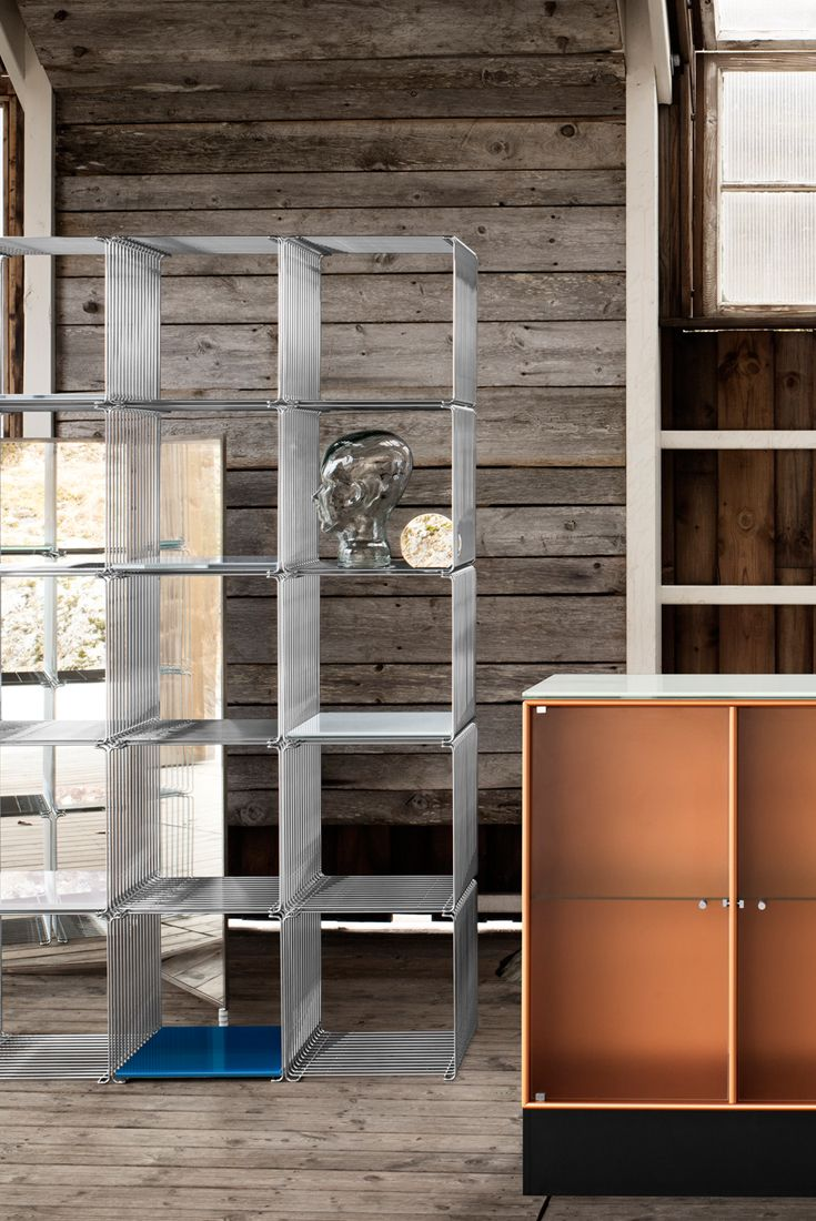 Wire Cubes by Verner Panton. #montana #furniture #panton #shelving #system #cabinets #steel #chrome