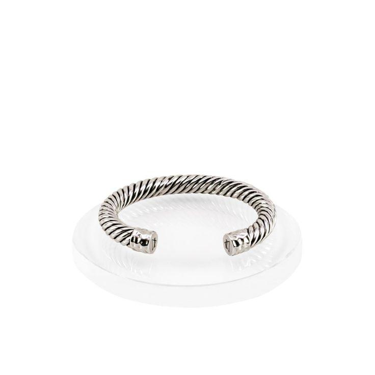 Atlantic Cable Cuff Bracelet - Silver