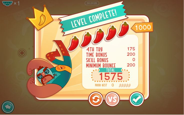 Rubber Tacos level completion summary