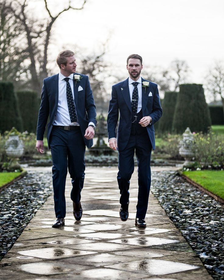 Groom and best man, at Hengrave Hall Suffolk wedding venue