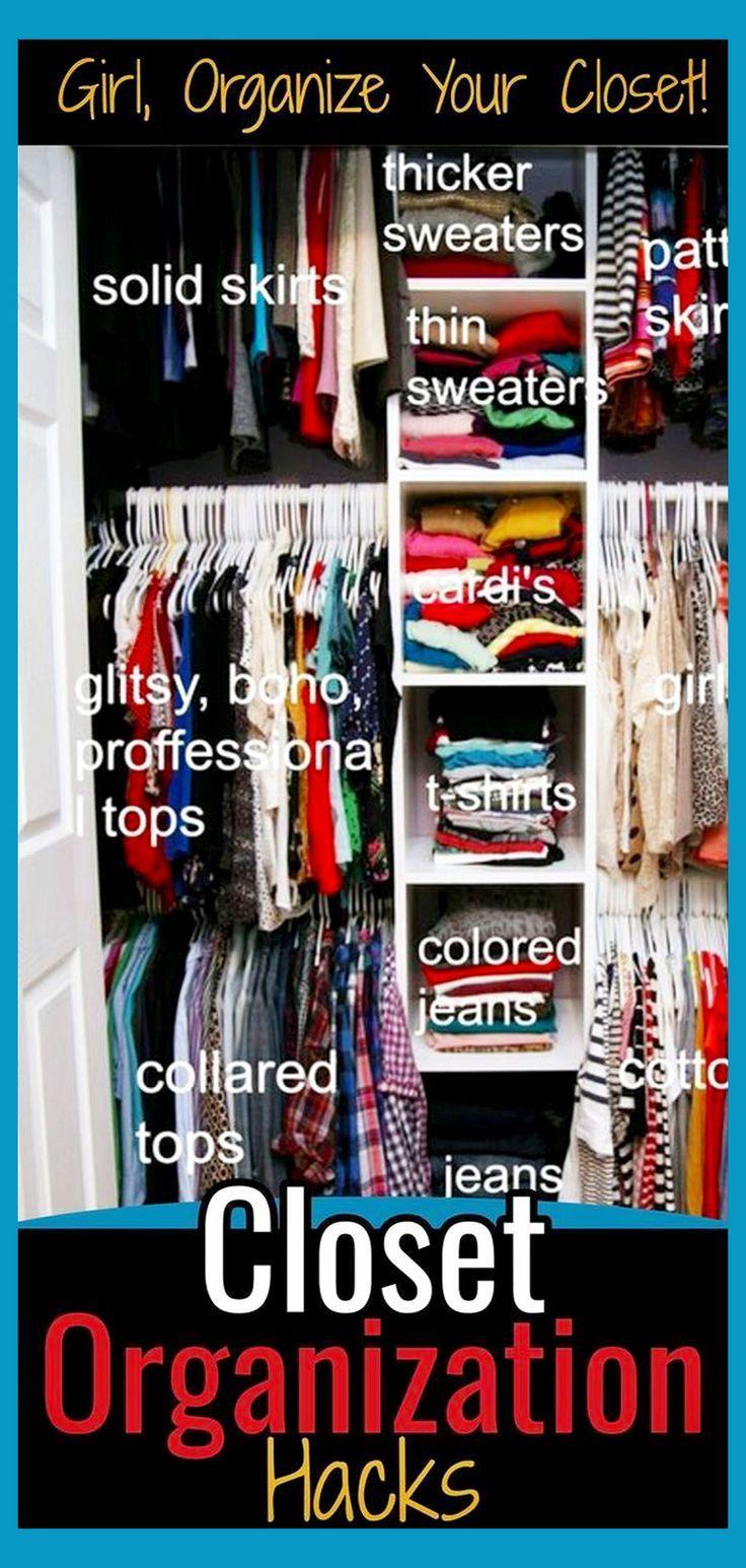 Closet Organization Hacks Diy Organization Ideas For Small Closets Ap Small Closet Organization Diy Small Clothes Closet Organization Closet Organizing Systems