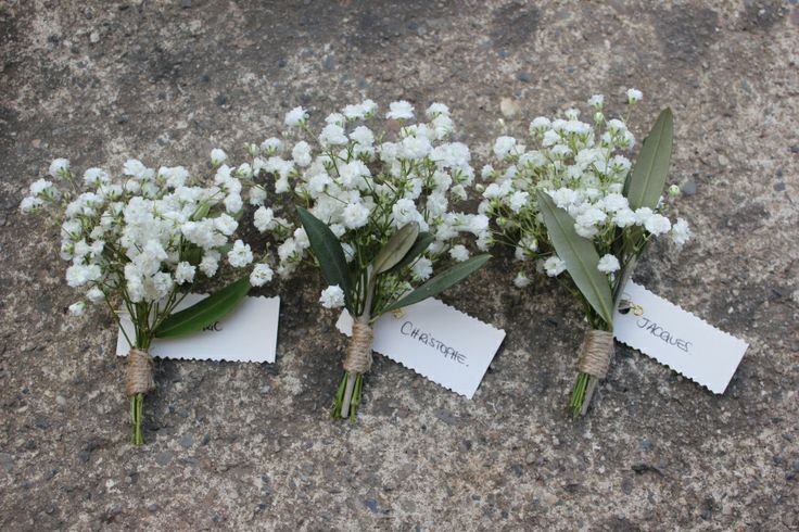 boutonniere gypsophile olivier
