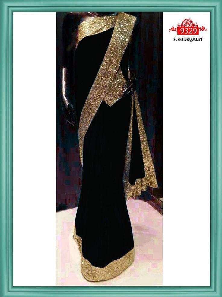 Black Color Bollywood Replica Designer Saree