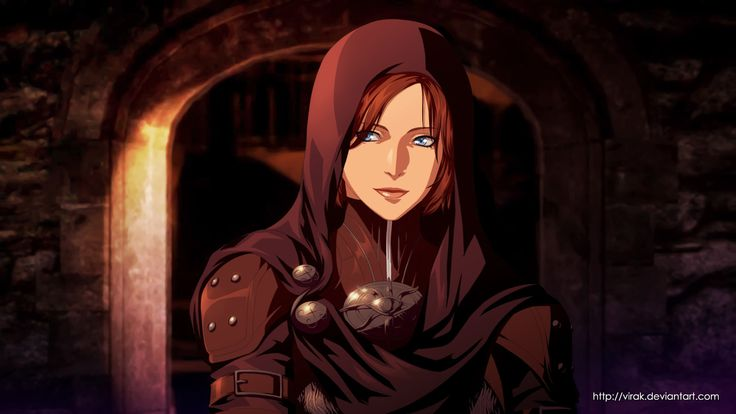 Dragon Age Inquisition anime style : Leliana, Jeanne Kongphengta on ArtStation at https://www.artstation.com/artwork/NJ0x1