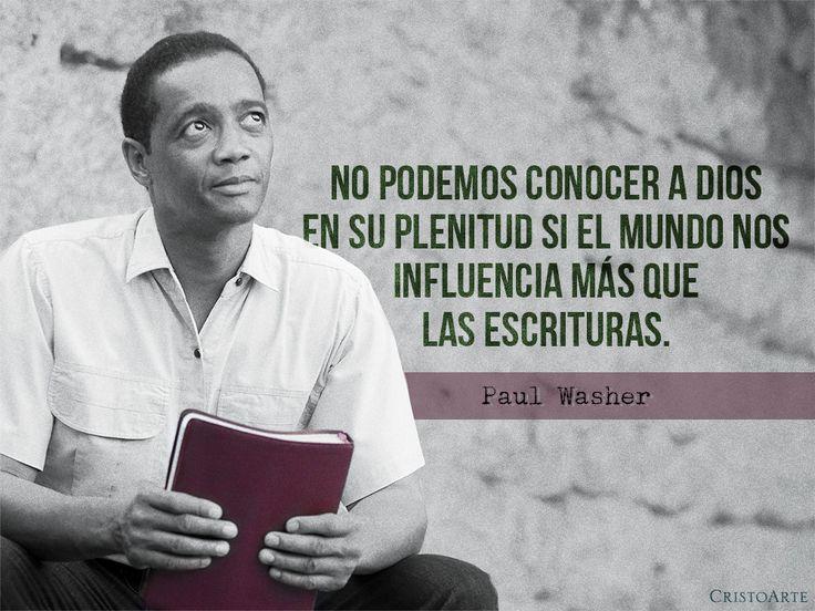 """""""No podemos conocer a Dios en Su plenitud si el mundo nos influencia más que Las Escrituras"""". - Paul Washer."""