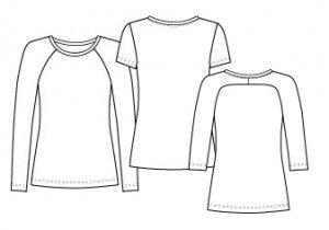 Lianne curved t-shirt | Homemade, stof2000