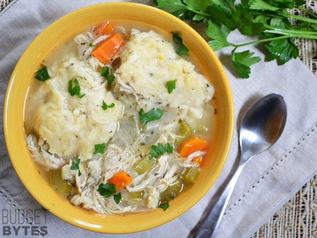 Make a batch of these easy Slow Cooker Chicken and Dumplings to store in your…