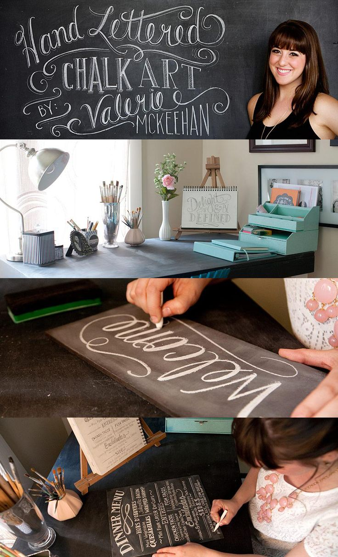 Hand Lettered Chalkboard Art Inspiration @Kathy Chan Chan Kohler