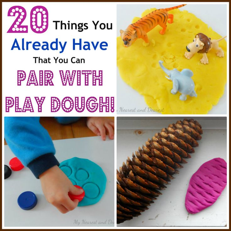 Play Doh activities with 20 things you already have