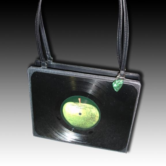 Old record albums make great purses