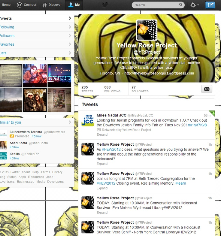 The Yellow Rose Project: Community Manager and Social Strategist