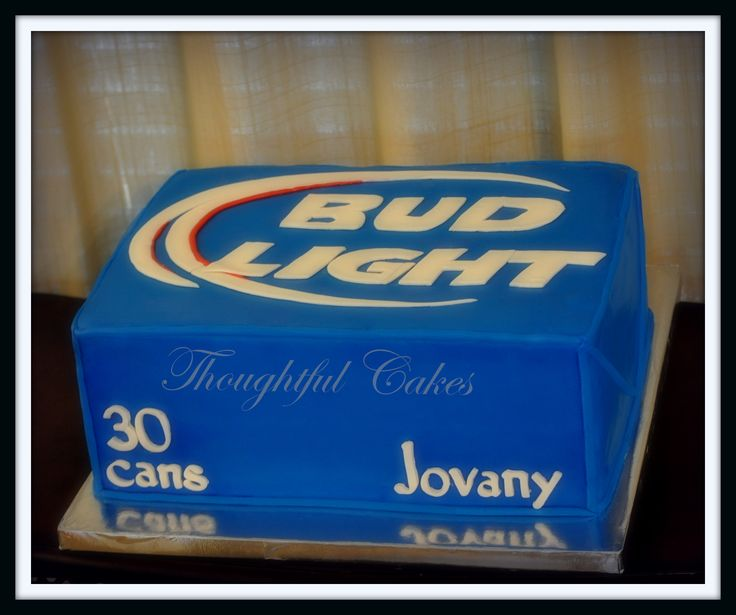 Budlight Cake Cakes Pinterest Bud Light Bud And
