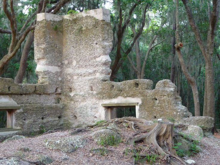 Stoney-Baynard Ruins in Hilton Head Island, SC. The remnants of a tabby plantation house, two slave cabins, and kitchen chimney constructed about 1790 are located in Baynard Park in Sea Pines Plantation, which costs $6 to enter. (Photo by Cheryl Warren)