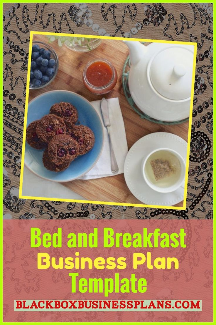 Bed and Breakfast Business Plan Template Bed, breakfast