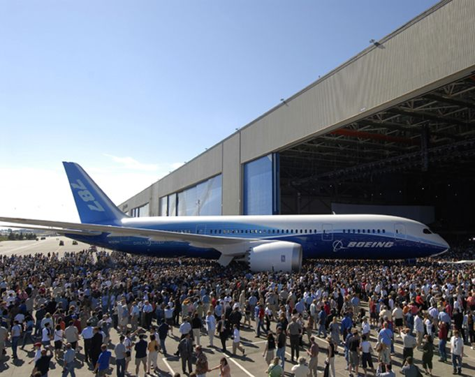 Boeing 787 Dreamliner rollout, new forms of transportation.