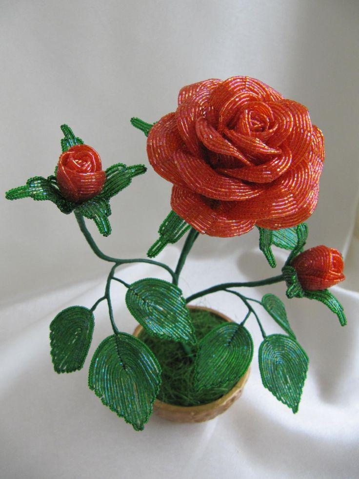 помощь оказали картинка поделки из бисера роза изделия