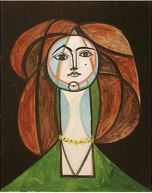 Françoise Gilot by Picasso.  Just finished watching Charlie Rose interview Francoise.  She is 91 and is absolutely amazing!