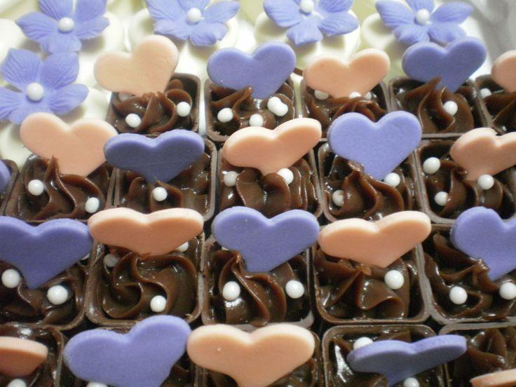 Copinho de chocolate trufado casamento lilas