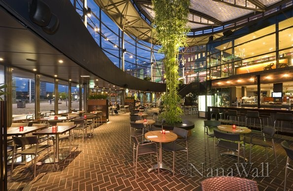 Beautiful Curved Restaurant With Nanawall Window Wall