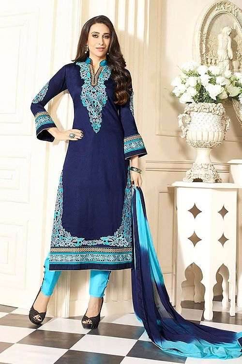Blue Cotton Salwar Kameez By karishma - Google Search    #SalwarKameez   #Shalwarkameez  #Indiandresses  #Indiansuits  #Indianfashion  #indianclothes  #Indianoutfits  #salwarsuits  #churidarsuits  #DesignerSalwarSuits  #palazzosuits