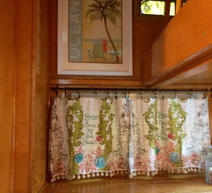 Tea Towel Kitchen Curtains: 17 Best Ideas About Camper Curtains On Pinterest