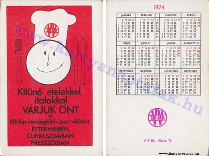1974 - 1974_0742 - Régi magyar kártyanaptárak