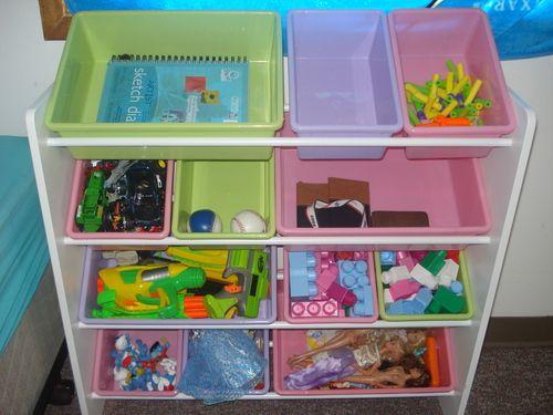 Amazon.com - Honey-Can-Do SRT-01602 Kids Toy Organizer and Storage Bins, Natural/Primary - Childrens Storage Furniture