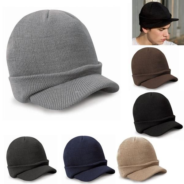 Men's Winter Brimmed Beanie - The House of Blackwell Beauty and Fashion Boutique