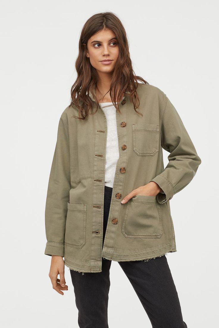 e4567a7eacd H&M Denim Utility Jacket - Green in 2019 | wishlist 2019 | Jackets ...