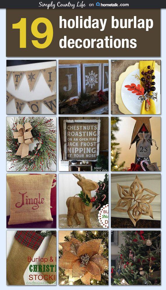 19 rustic burlap holiday decorations