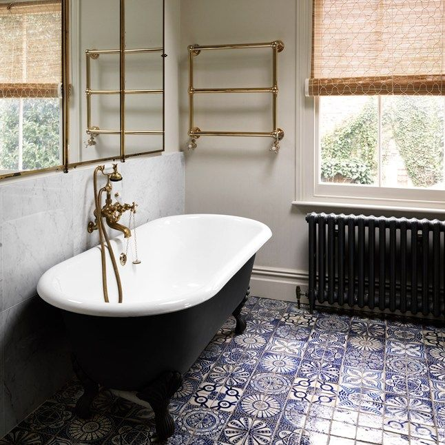 Moroccan Bathroom Floor Tiles From Habibi Interiors Are Deliberately  Mismatched For A Patchwork Effect Part 55