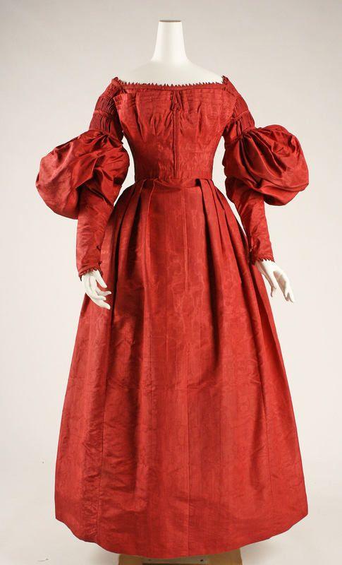 Dress ca. 1837 via The Costume Institute of the Metropolitan Museum of Art