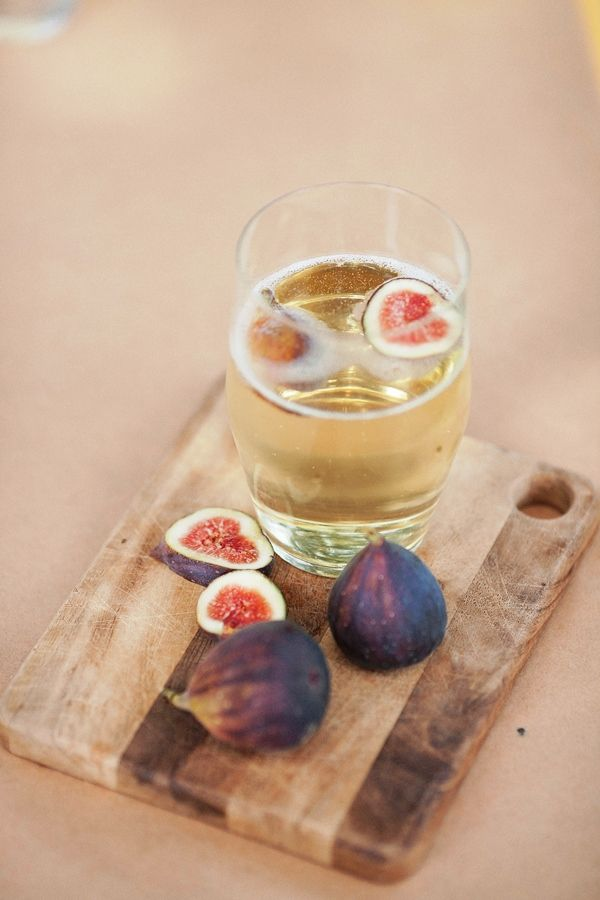 perfect fall cocktail. Figs and Champagne.