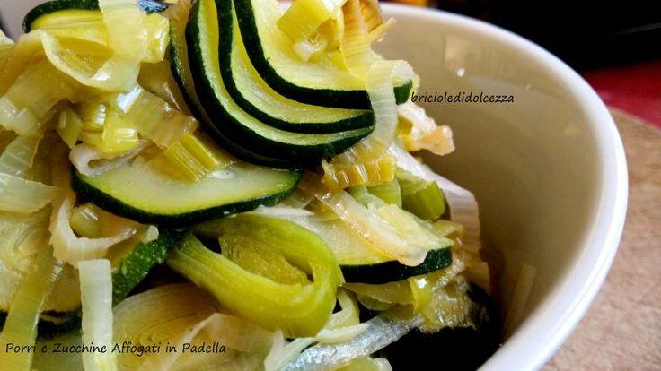 Porri+e+Zucchine+Affogati+in+Padella