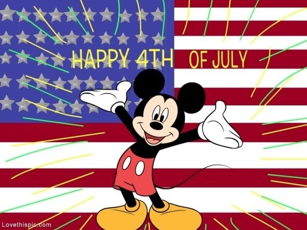Mickey Mouse Happy 4th of July usa america patriotic mickey mouse red white blue july 4th
