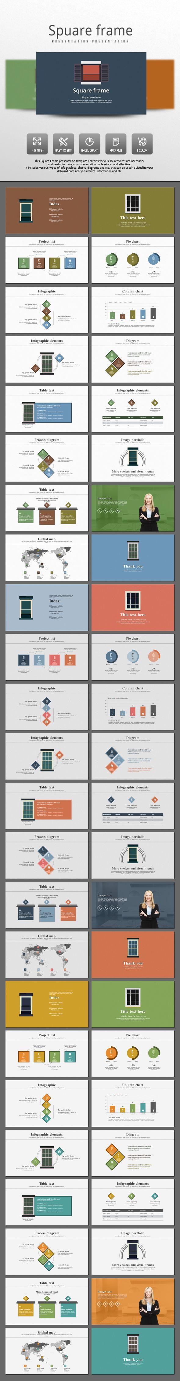 Frame PowerPoint Presentation Template #design #slides Download: http://graphicriver.net/item/frame/13127287?ref=ksioks