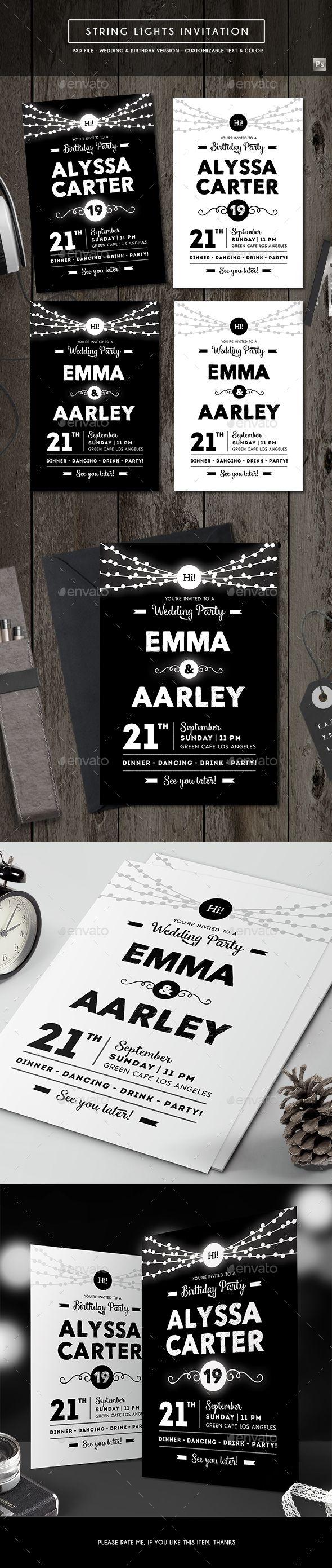 672 best Invitation Template images on Pinterest | Design patterns ...