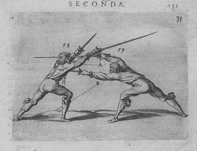 from a 16th century fencing manual- sword and dagger