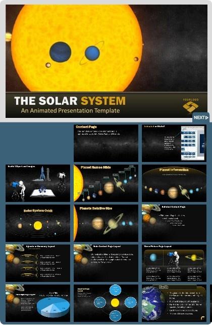 Solar System Widescreen Template