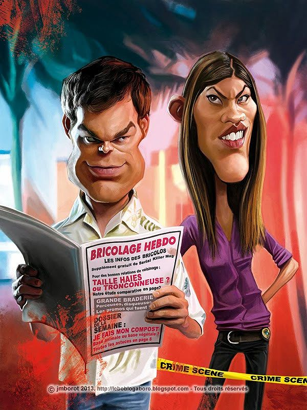Caricatura de Dexter.