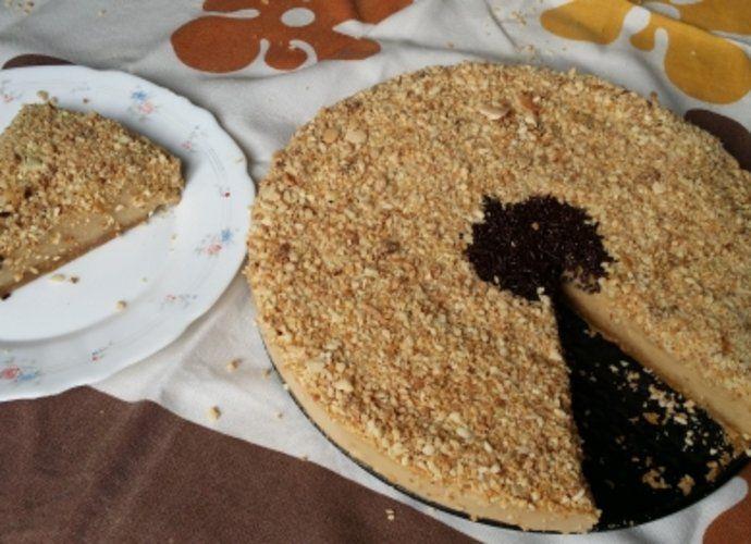 Tarta de turrón para #Mycook http://www.mycook.es/cocina/receta/tarta-de-turron