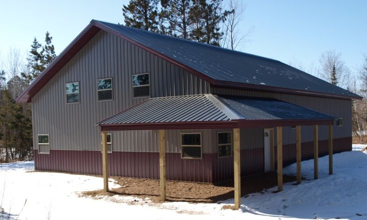Residential building quality pole buildings steel for Barns with living quarters floor plans