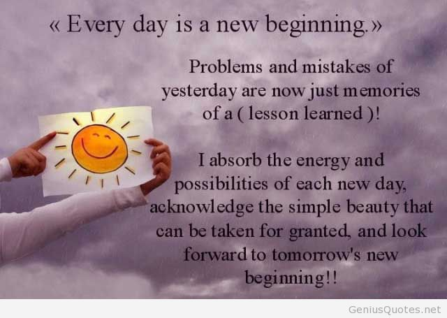 New Beginning Quotes And Sayings: New Day New Beginning Quotes. QuotesGram