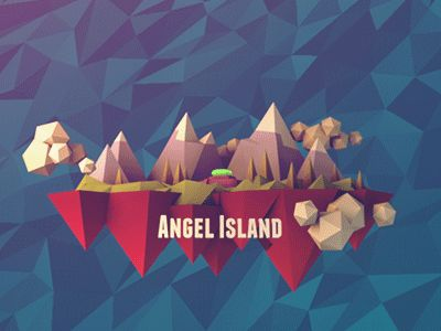 Dribbble - Angel Island 3D redux by Kevin McCarthy #lowpoly
