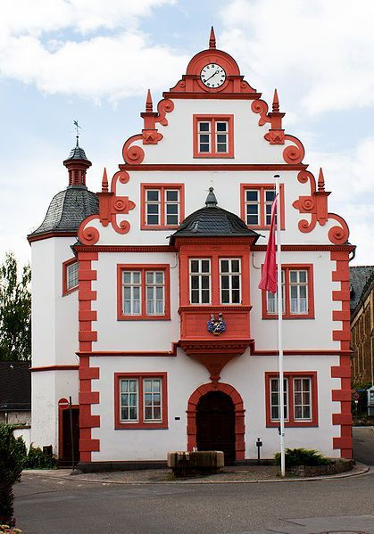 Renaissance Building From City Hall Mainz Gonsenheim Germany