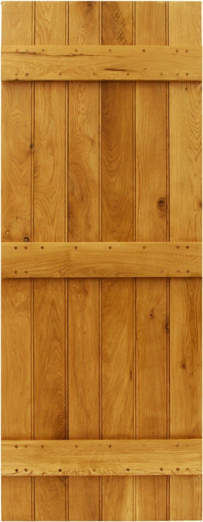 Solid oak ledge door with optional braces #doors
