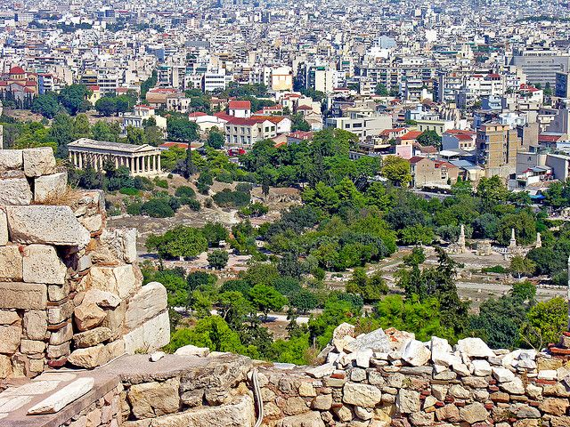Located to the northwest of the Acropolis, the ancient Agora of Athens was once a marketplace and civic center. The people gathered here to browse all kinds of commodities. It was also a place to meet others and talk about politics, business, current events and the nature of the universe and divine. The ancient Greek democracy can actually be traced to this ancient spot. It's a wonderful area to look at the cultural beginnings of Athens.