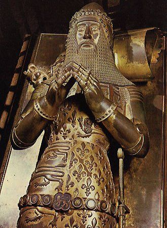 Tomb of Edward The Black Prince (1330-1376), Canterbury Cathedral. Remembered as a great war captain, his greatest victory was at Poitiers in 1356, where he captured the French king, Jean II and his rich baggage.