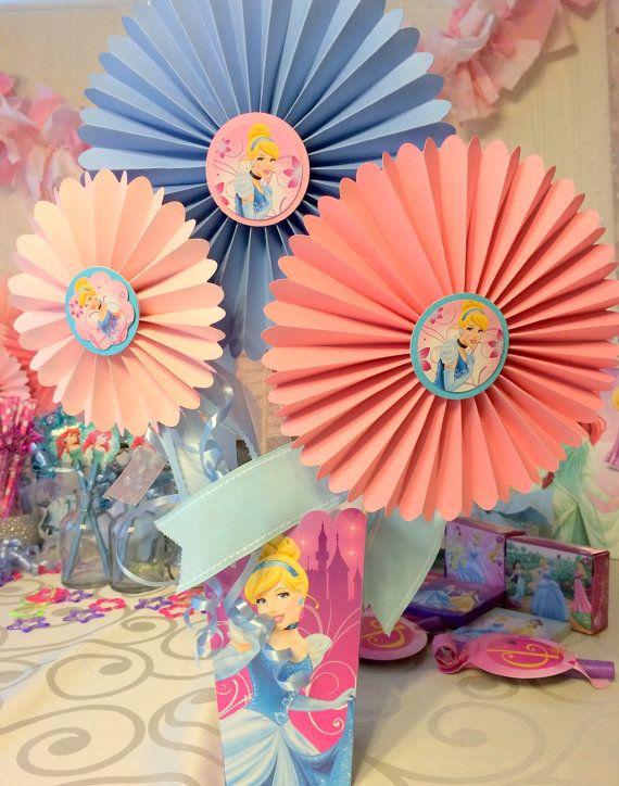Cinderella Paper Rosettes Princess centerpiece by QuiltedCupcake